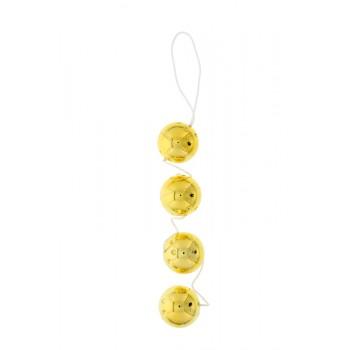 4 PCS. DUOTONE BALLS - GOLD