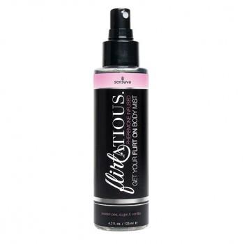 Sensuva - Flirtatious Pheromone Body Mist Vanilla Sugar & Sweet Pea 125 ml