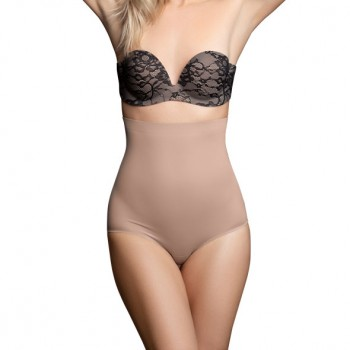 Bye Bra - Invisible High Waist Brief Nude L