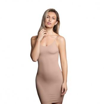 Bye Bra - Invisible Singlet Dress Nude L