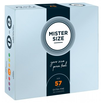 Mister Size 57mm pack of 36