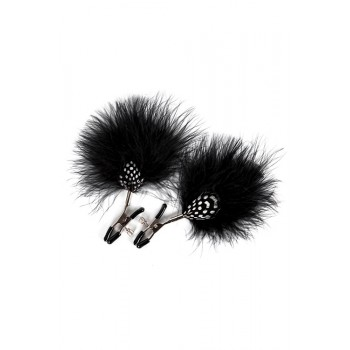 GP FEATHER NIPPLE CLAMPS BLACK