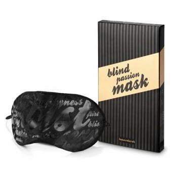 Bijoux Indiscrets Blind Passion melns acu apsējs - Bijoux Indiscrets - Blind Passion Mask