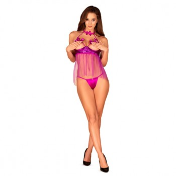 Obsessive - Delishya Babydoll Purple L/XL