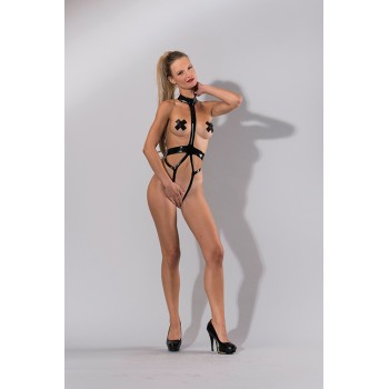 GP LATEX CROTCHLESS HARNESS BODY, S