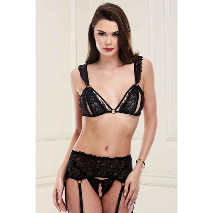 SHOW ME BRA GARTER SKIRT & G-STRING SET