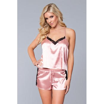 JASMINA SATIN CAMI & SHORT PINK, XL