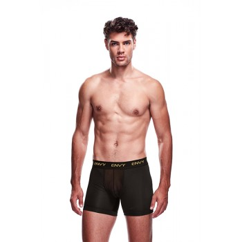 ENVY MESH LONG BOXER BLACK, S/M