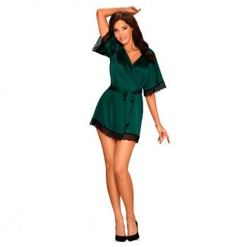 Obsessive Sensuelia zaļš rītatērps - Obsessive - Sensuelia Robe Green XXL