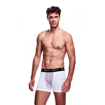 ENVY MESH LONG BOXER WHITE, L/XL