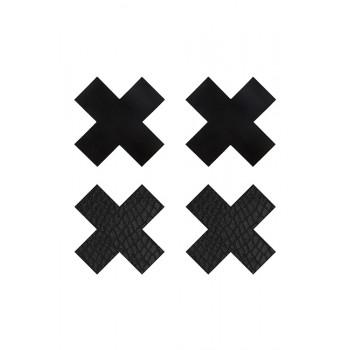 PEEKABOO PASTIES CLASSIC BLACK X