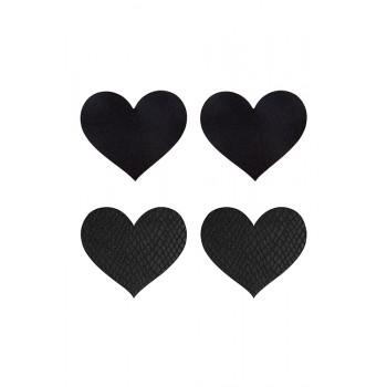PEEKABOO PASTIES CLASSIC BLACK HEARTS