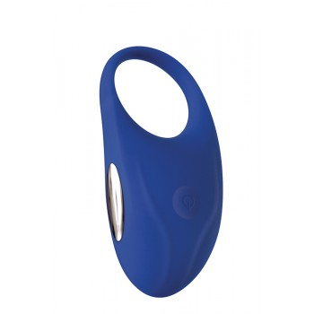 A&E RECHARGEABLE COUPLES PENIS RING BLUE