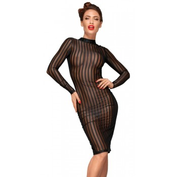 Noir Dress Stripes L